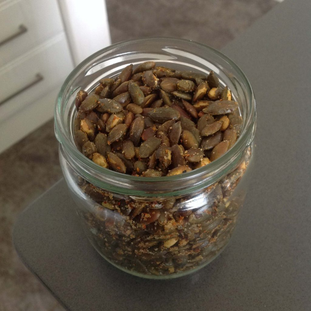 SPICY PUMPKIN SEEDS – Love of Banting